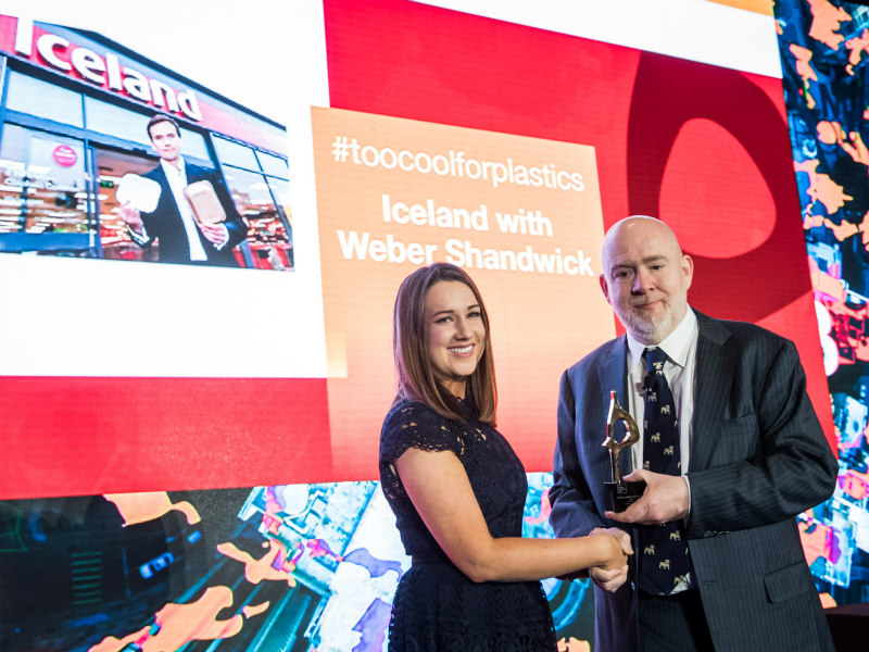 UK Supermarket Chain Iceland Wins Platinum Global SABRE For #toocoolforplastics