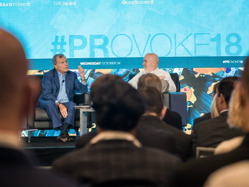 Sorrell At PRovoke18: 'WPP Seems To Be A Car Crash In Slow Motion'