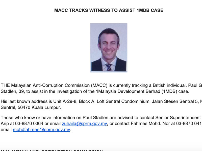 Malaysian Authorities Seek Former APCO MD In Fraud Probe