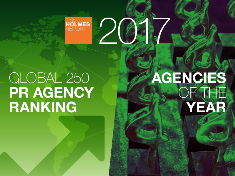 Enter Now: 2017 Global PR Rankings And Agencies Of The Year