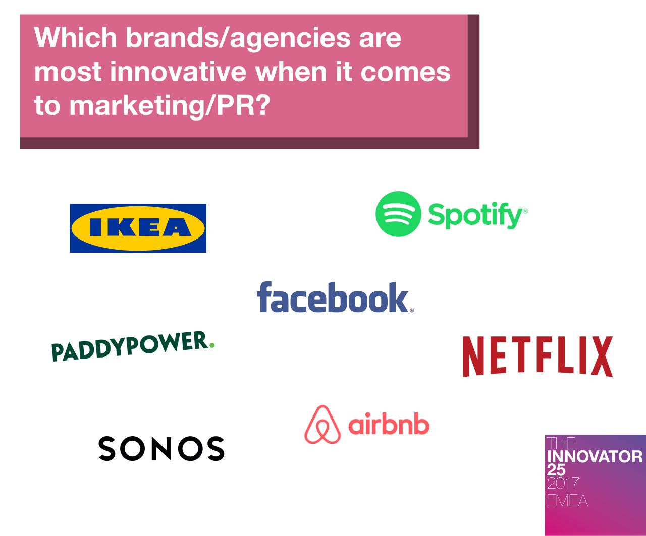 Innovator 25 EMEA - Most innovative brands