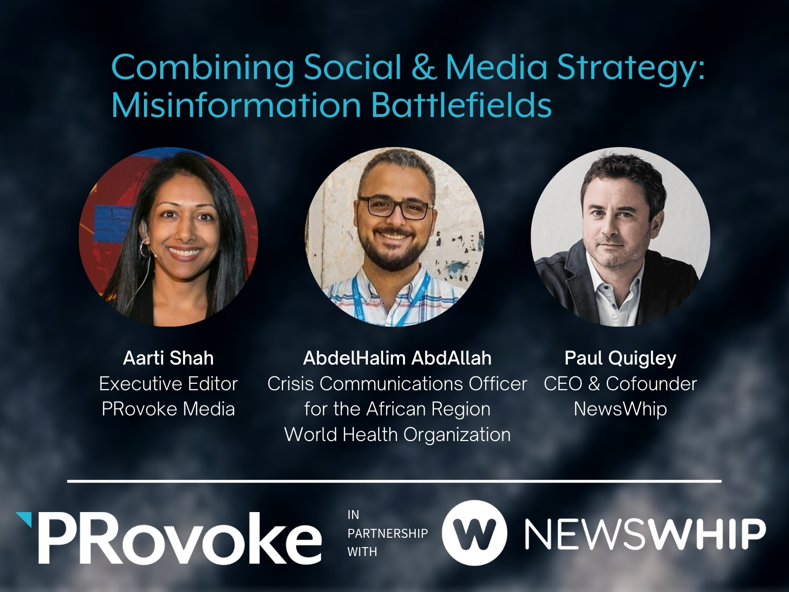 Combining Social & Media Strategy: Misinformation Battlefields with WHO and NewsWhip