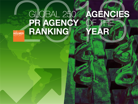 Enter Now: 2018 Global PR Rankings And Agencies Of The Year