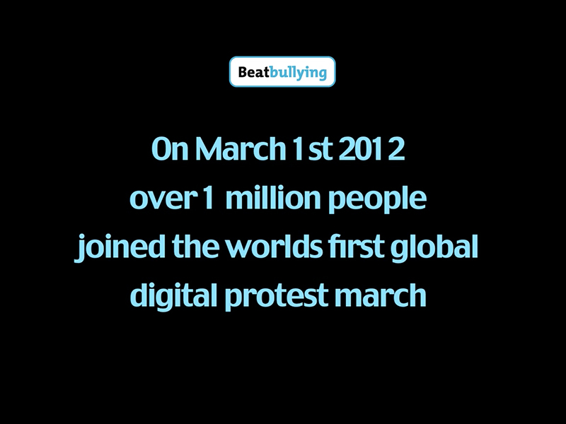 Beatbullying's Virtual Protest March
