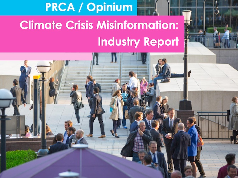 Study: PR Sector Needs To Do More To Tackle Climate Misinformation