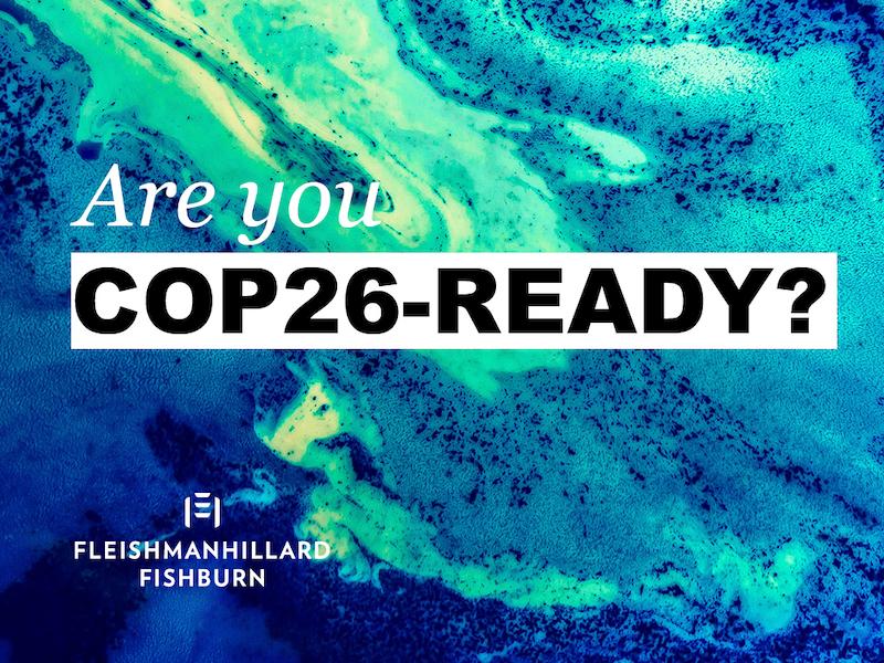 FleishmanHillard Fishburn Launches COP26 Unit