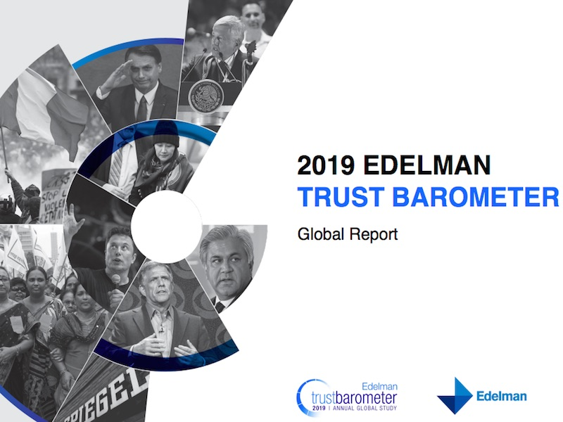 2019 Trust Barometer: Employers Emerge As Most Trusted Institution