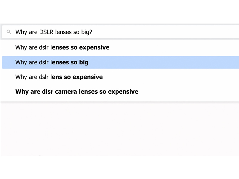 Why DSLR?
