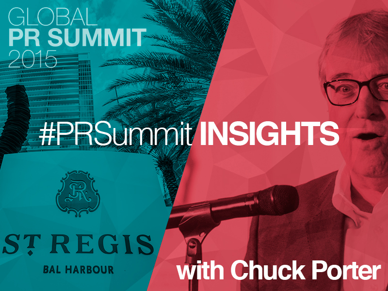 PRSummit: Chuck Porter On Taking Creative Risks