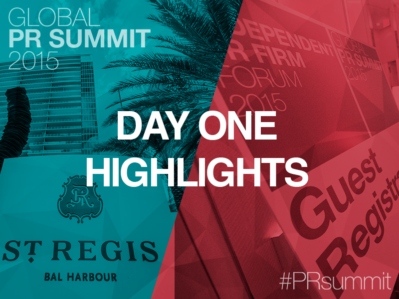 PRSummit: Day One Highlights