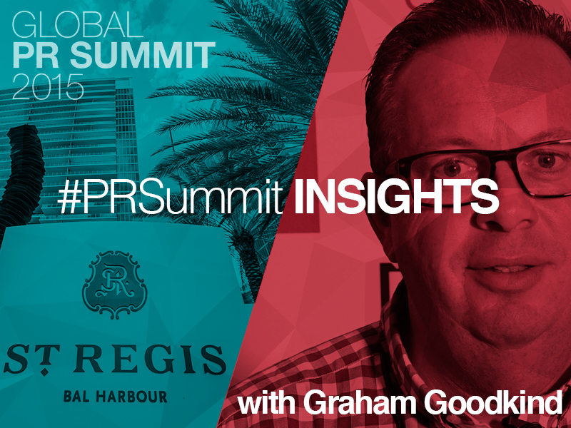 PRSummit: Graham Goodkind On How PR Firms Should Value Their Ideas
