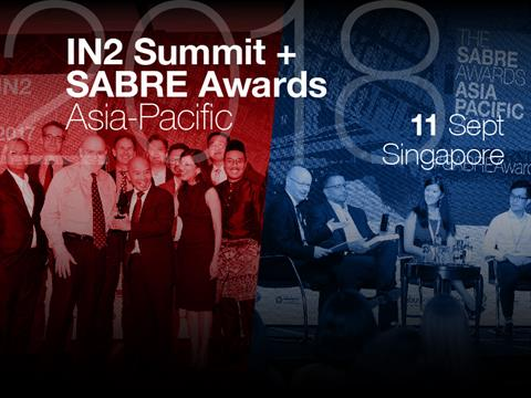 2018 Asia-Pacific IN2Summit & SABRE Awards Set For 11 September In Singapore