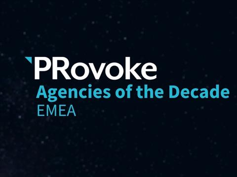 PRovoke Names EMEA Agencies Of The Decade