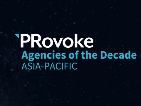 PRovoke Names Asia-Pacific Agencies Of The Decade