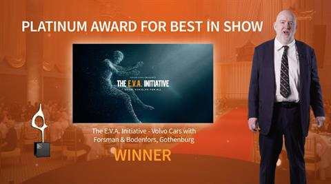 Volvo's E.V.A. Initiative Takes Home Best In Show At EMEA SABRE Awards