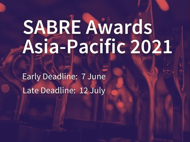 2021 Asia-Pacific SABRE Awards Now Open For Entries
