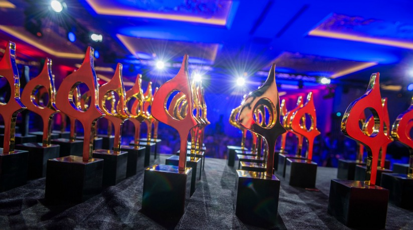 SABRE Awards trophies slide