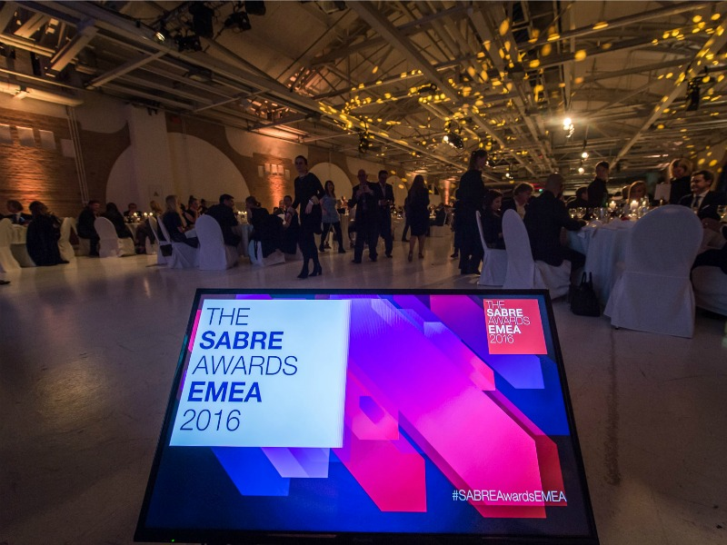 2016 EMEA SABRE Awards: Full Winners List